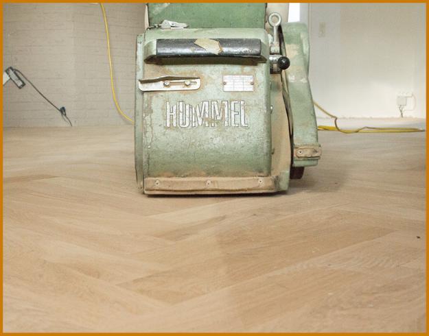 schuren bestaande houten vloer - Van Mourik Vloeren